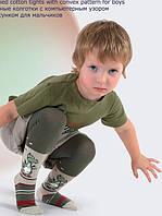 501-013 B Колготи бавовняні з випуклим малюнком для хлопців