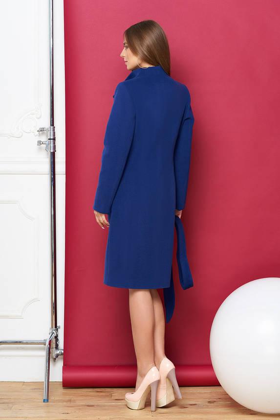 Синее женское кашемировое пальто весна осень, фото 2