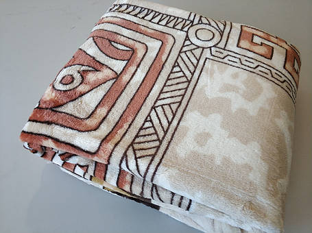 Микрофибровая простынь,покрывало ELWAY 893-1 Египет коричневый полуторный размер (160*210), фото 2