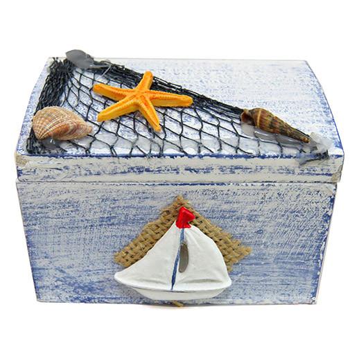 Шкатулка деревянная в морском стиле