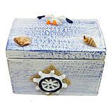 Шкатулка деревянная в морском стиле, фото 2