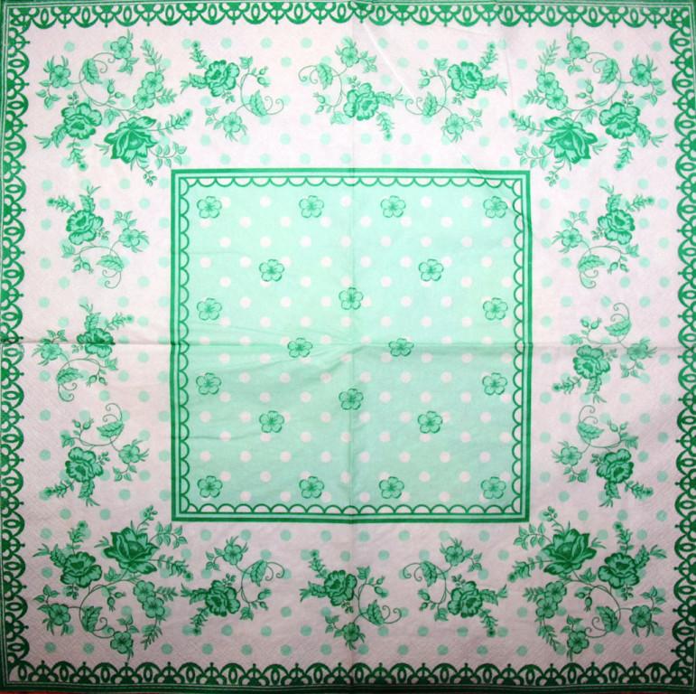 Салфетка Зелёный орнамент 3277