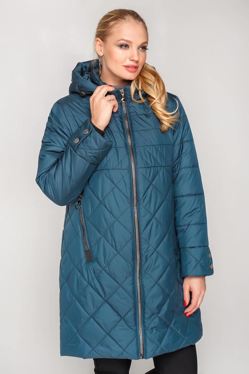 02150711c94 Куртка женская удлиненная на весну с 50 по 58 размер. Гарантированное  наличие ...
