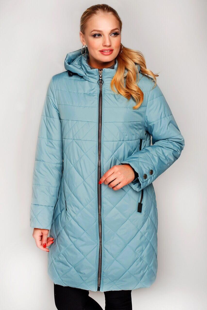 Куртка жіноча подовжена на весну з 50 по 58 розмір