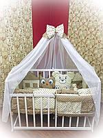 """Детский постельный набор в кроватку Bonna """"Лесные зверята"""" бежевый, фото 1"""