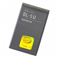 Батарея (акб, аккумулятор) BL-5U для телефонов Nokia, 1000 mAh, оригинал