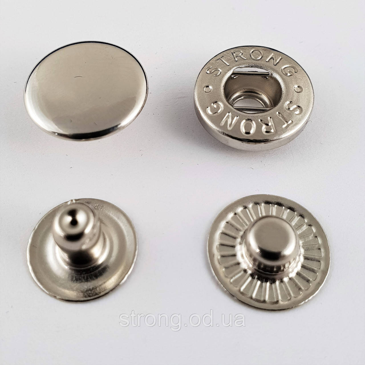 Кнопка Альфа 15мм Никель (720шт.)