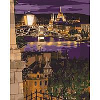 """Картины по номерам без коробки - Городской пейзаж """"Магические краски Будапешта"""" 50*40см"""
