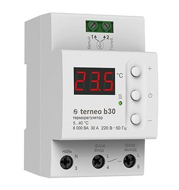 Терморегулятор для  контроля обогрева труб, ёмкастей на DIN рейку Terneo b30