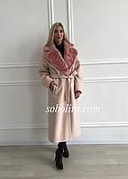 Пальто с английским воротником из норки, фото 1