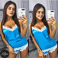ВС2233 Женская атласная пижама (майка+шорты)