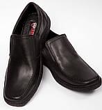 Мужские кожаные туфли комфорт Konors Сlasic Leather, фото 5