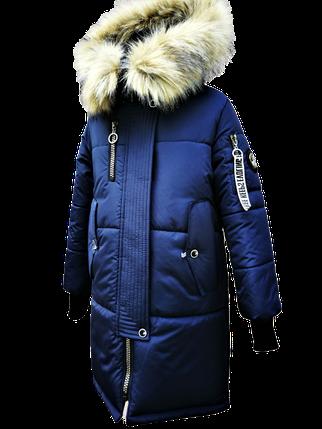 Стильное пальто на зиму для девочки, фото 2