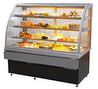 Витрина кондитерская холодильная 1м серебро LCC Carina-1,0 ES System 6140031
