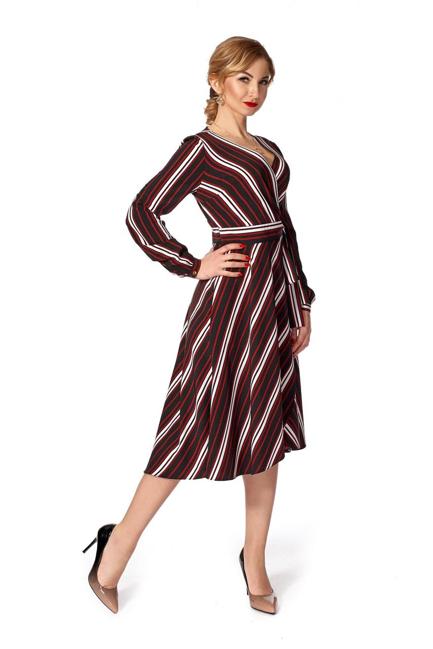 Стильное платье в полоску.Разные цвета.