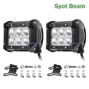 Автофара LED на крышу (6 LED) 5D-18W-SPOT светодиодная фара на 6 лампочек ближнего света