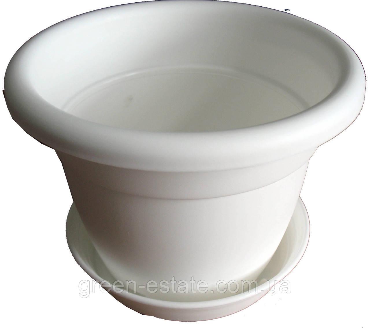 Вазон Антик 15 1,7 л белый