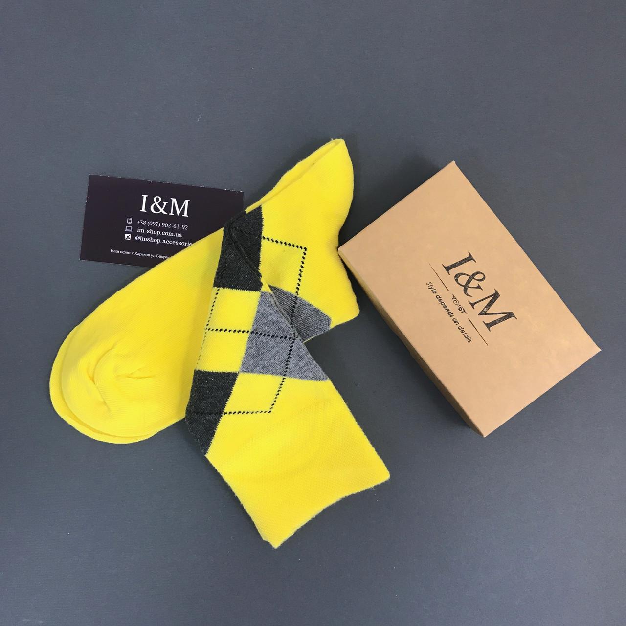 Носки I&M Craft желтые в ромбики (070166)