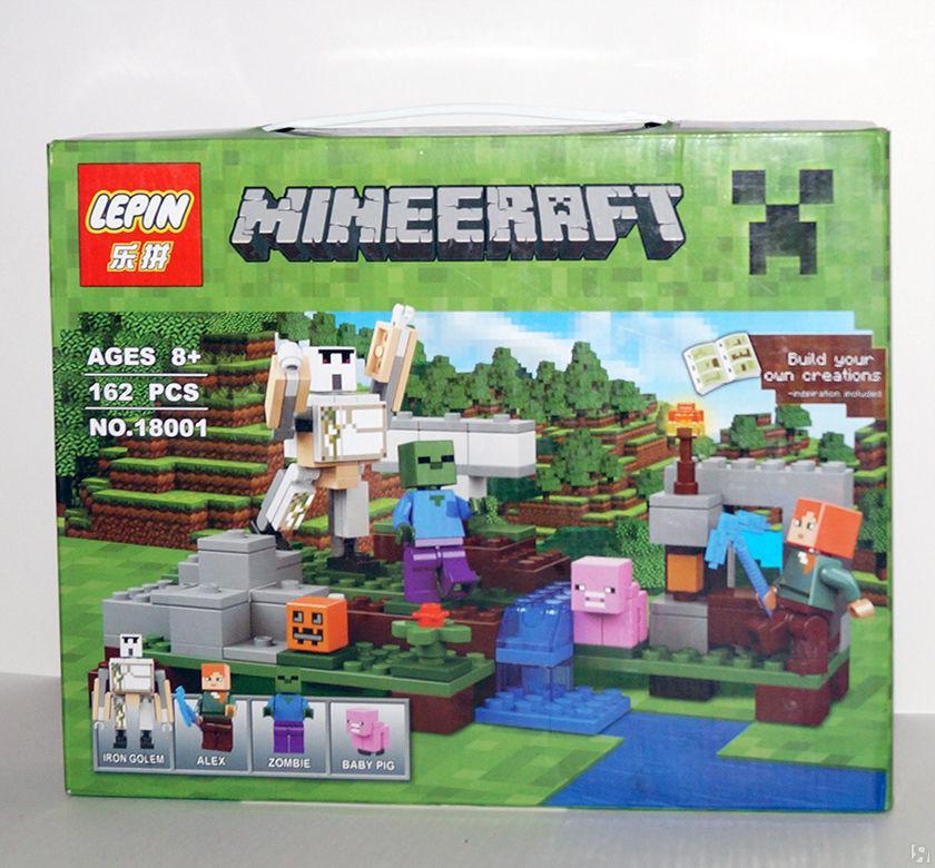Конструктор Lepin 18001 Железный Голем (аналог Lego Майнкрафт, Minecraft 21123)