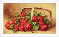 """Набор для вышивания крестом """"Розы в лукошке"""""""
