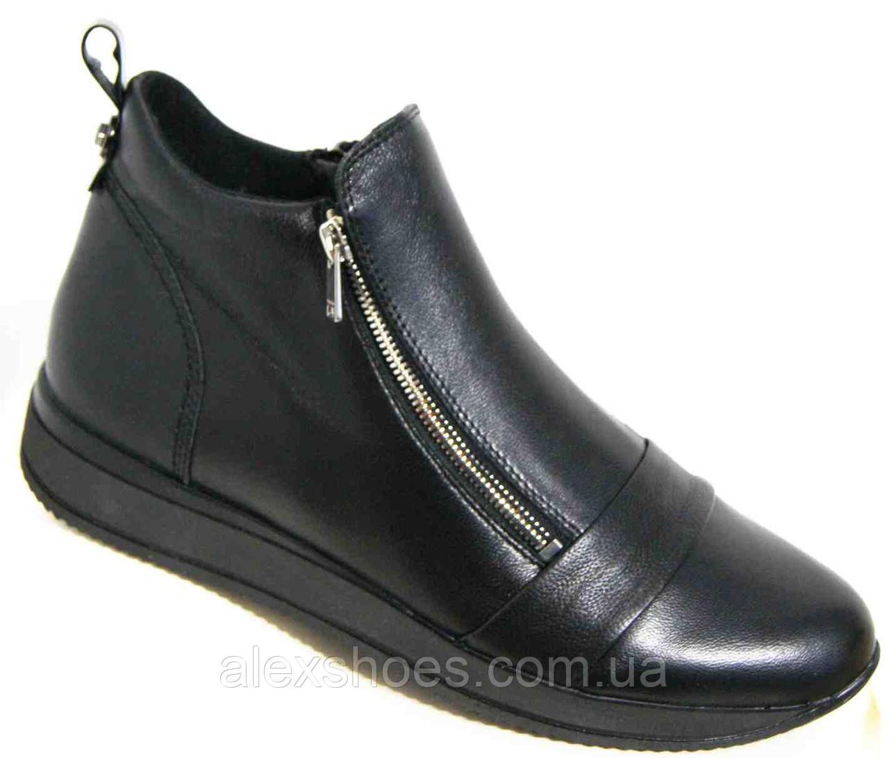 Ботинки демисезонные из натуральной кожи большого размера от производителя модель В5261-4