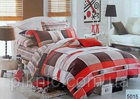 Постельное сатин двуспальный Евро ELWAY. Польша. Комплект постельного белья 220х240 см, 5015