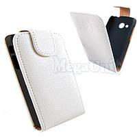 Откидной чехол-флип для HTC Desire C (a320e) Белый