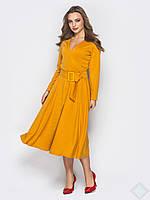 Роскошное длинное платье Лола, горчица, фото 1