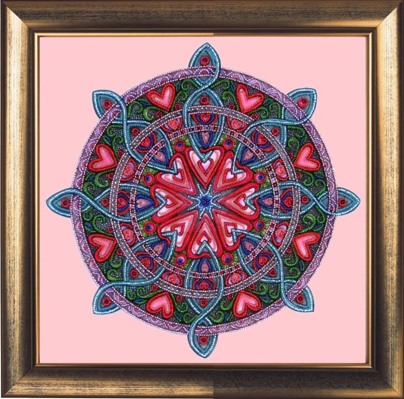 Набор для вышивки бисером ТМ Батерфляй Мандала любви и гармонии БФ 121