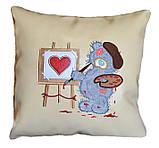 Сувенірна подушка з вишивкою Ведмедиків Тедді, фото 4