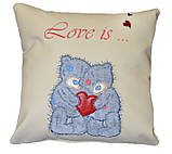 Сувенірна подушка з вишивкою Ведмедиків Тедді, фото 2