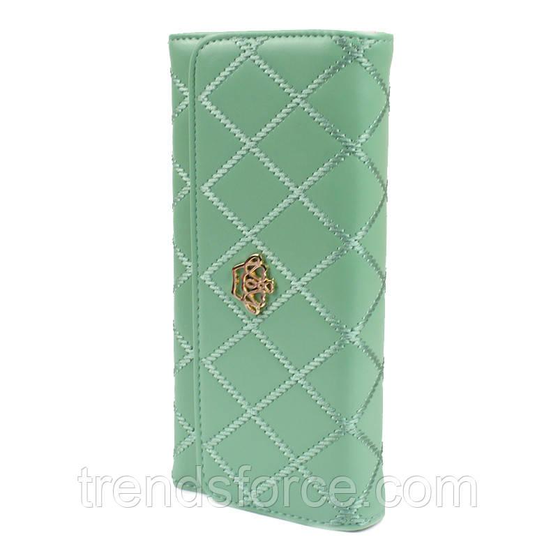 f033b13efc20 Женский клатч с короной стеганый Crown зеленый (Crown_g): продажа ...