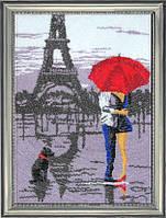 Набор для вышивки бисером ТМ Батерфляй Париж для двоих (по картине О. Дарчук) БФ 481