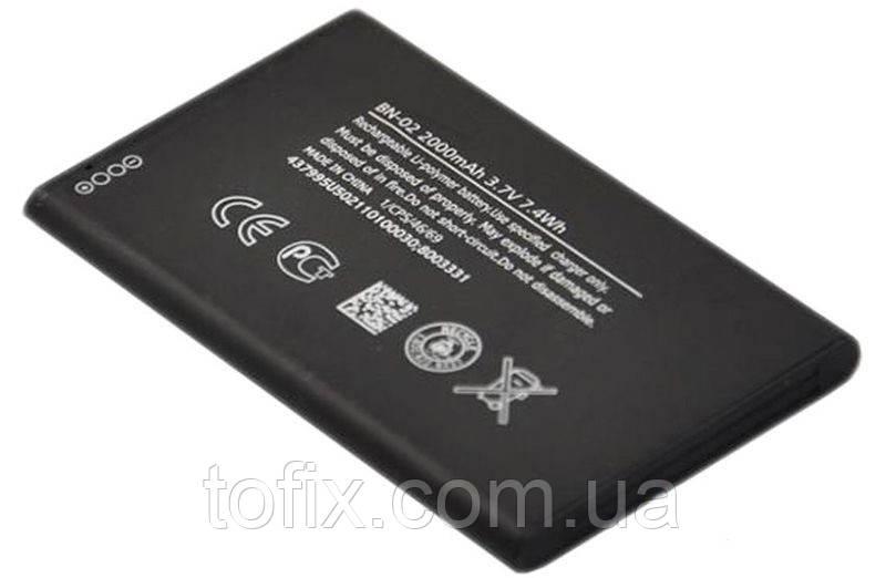 Батарея (акб, аккумулятор) BN-02 для Nokia XL (RM-1030, RM-1042), 2000 mAh, оригинал