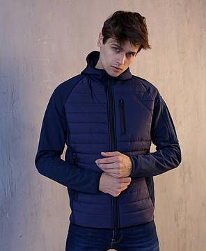 "Мужская демисезонная куртка Pobedov Soft Shell Combi ""Derzhu rayon"" Navy (S, М, L, XL размеры), фото 2"