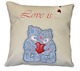 Сувенирная подушка с вышивкой Мишки Тедди, фото 3