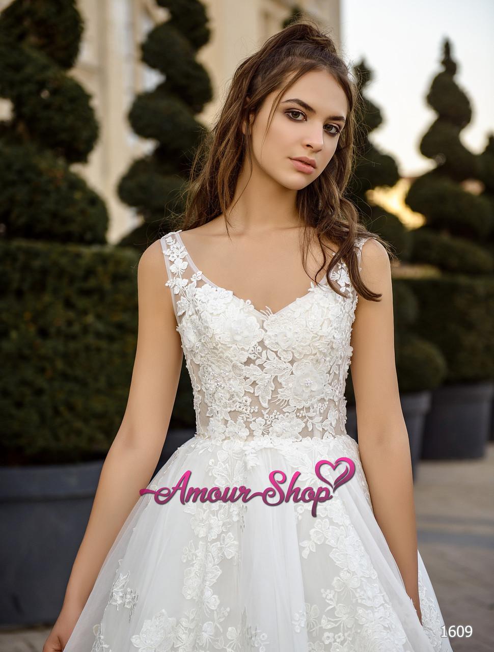 Свадебное платье кружевное, а-силуэт,  пошив под заказ, Киев.