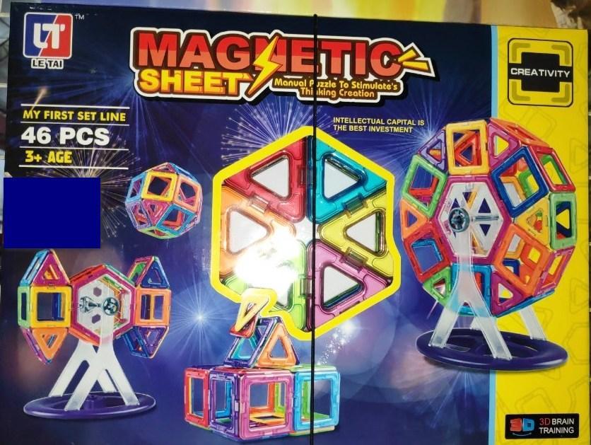 Магнитный конструктор Magnetic Sheet 46 деталей LT 4002