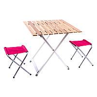 Стол раскладной + 2 стула SANJIA C03-13