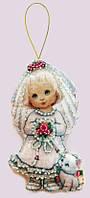 Набор для изготовления игрушки из фетра для вышивки бисером ТМ Батерфляй Кукла. Невеста. БФ F 059