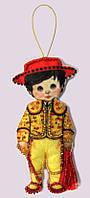 Набор для изготовления игрушки из фетра для вышивки бисером ТМ Батерфляй Кукла. Испания-М БФ F 080