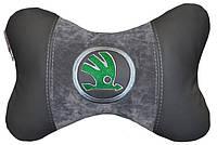 Автомобильная подушка-подголовник бабочка с вышивкой