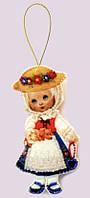 Набор для изготовления игрушки из фетра для вышивки бисером ТМ Батерфляй Кукла. Германия БФ F043