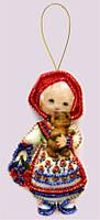 Набор для изготовления игрушки из фетра для вышивки бисером ТМ Батерфляй Кукла. Россия БФ F046