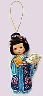 Набор для изготовления игрушки из фетра для вышивки бисером ТМ Батерфляй Кукла. Япония БФ F047