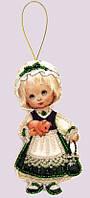 Набор для изготовления игрушки из фетра для вышивки бисером ТМ Батерфляй Кукла. Ирландия БФ F049