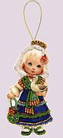 Набор для изготовления игрушки из фетра для вышивки бисером ТМ Батерфляй Кукла. Испания БФ F050