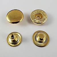 Кнопка альфа 12,5мм Золото (50шт.)