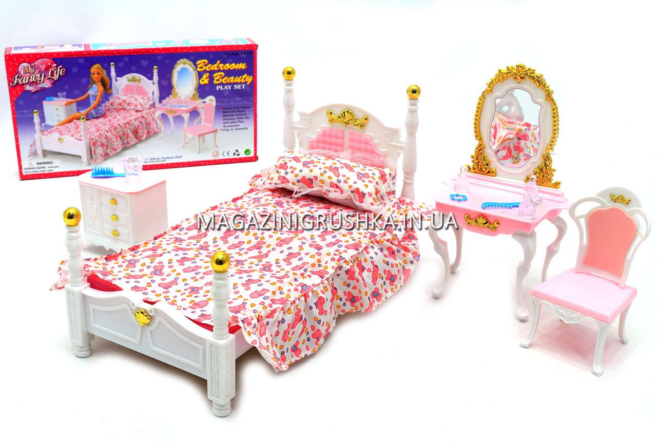 Детская игрушечная мебель Глория Gloria для кукол Барби Спальня 2319. Обустройте кукольный домик