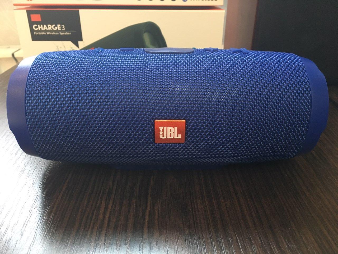 Портативная Bluetooth колонка JBL CHARGE 3 Синяя + (качественная копия Высокое качество)